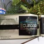 スターバックスリザーブ「エクアドル ラ ペルラ チキータ」。小さな真珠と名付けられた貴重な珍しいコーヒー。